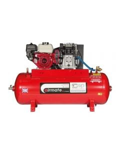 SIP Airmate industrial ISHP5.5 150 litre air compressor with GX160 petrol Honda engine