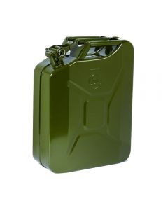 Keep fuel, oil or water safe in this steel jerry can