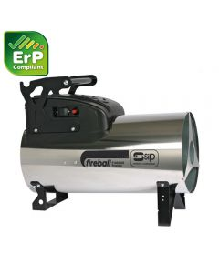 SIP variable heat propane gas space heater with dual voltage