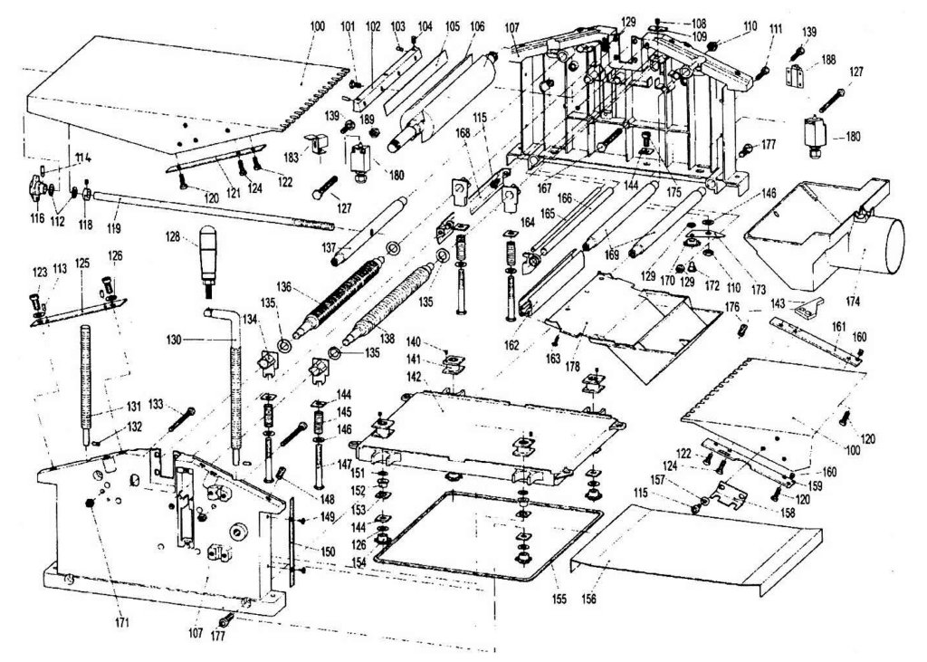 Sip 01454 Planer Thicknesser Diagram A