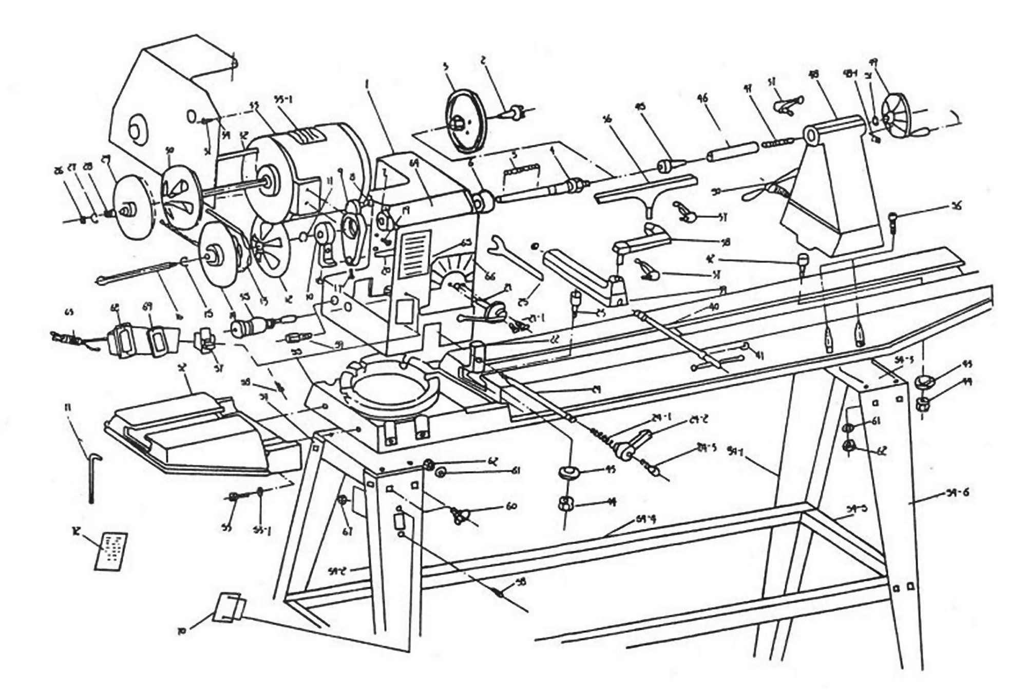 wood lathe diagram