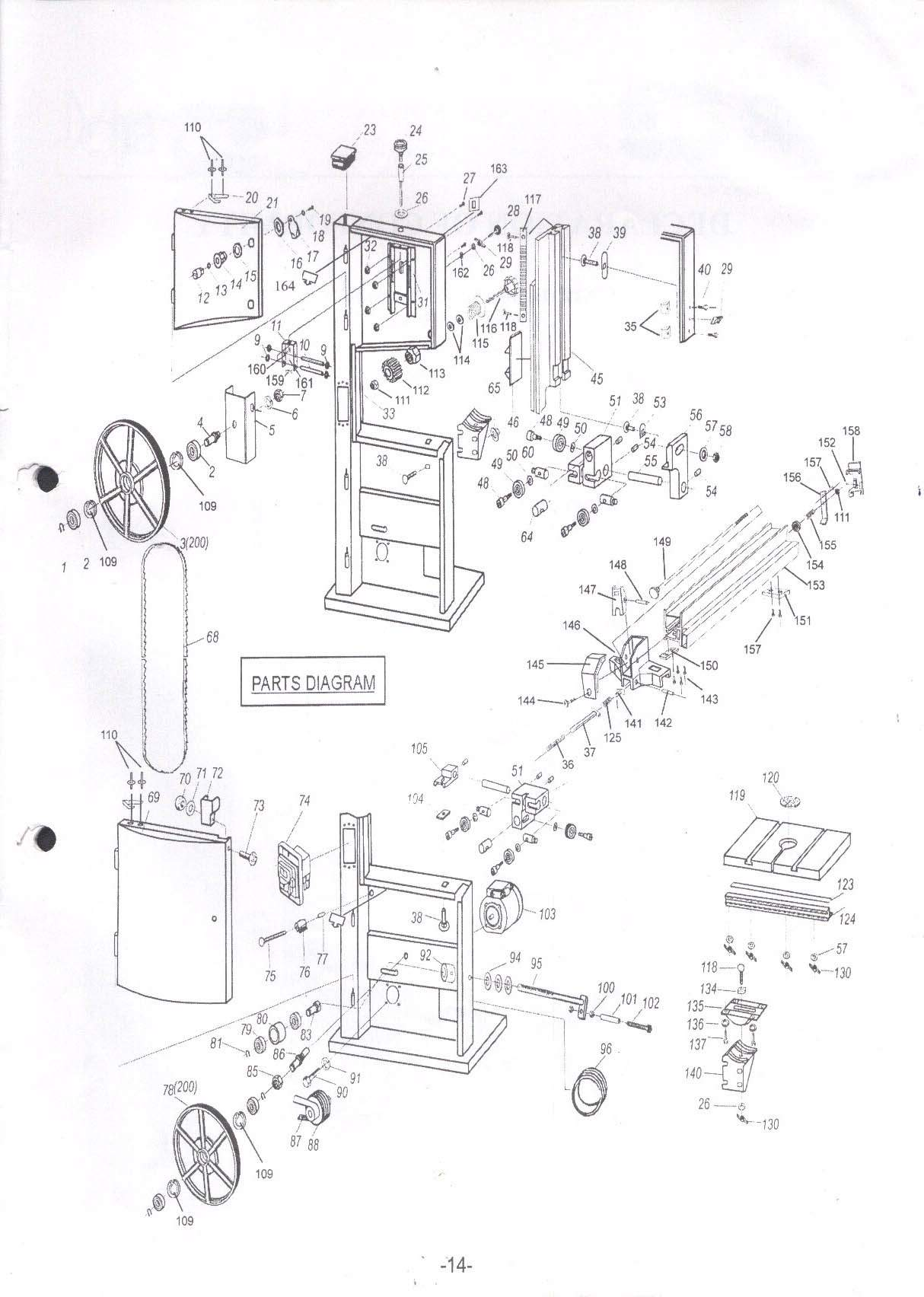 sip 01486 12 u0026quot  wood bandsaw diagram