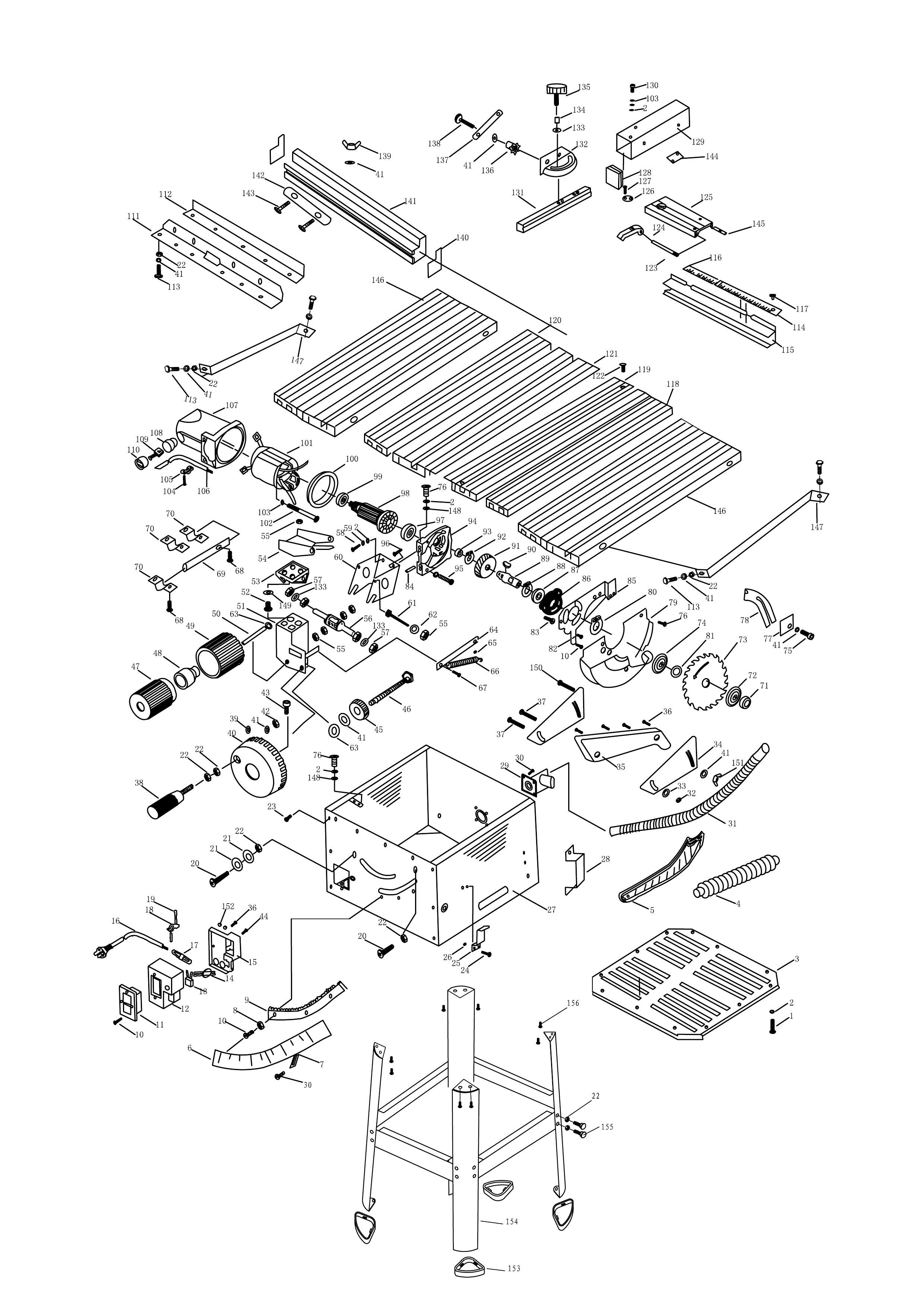 Sip 01930 10 table saw diagram ccuart Images
