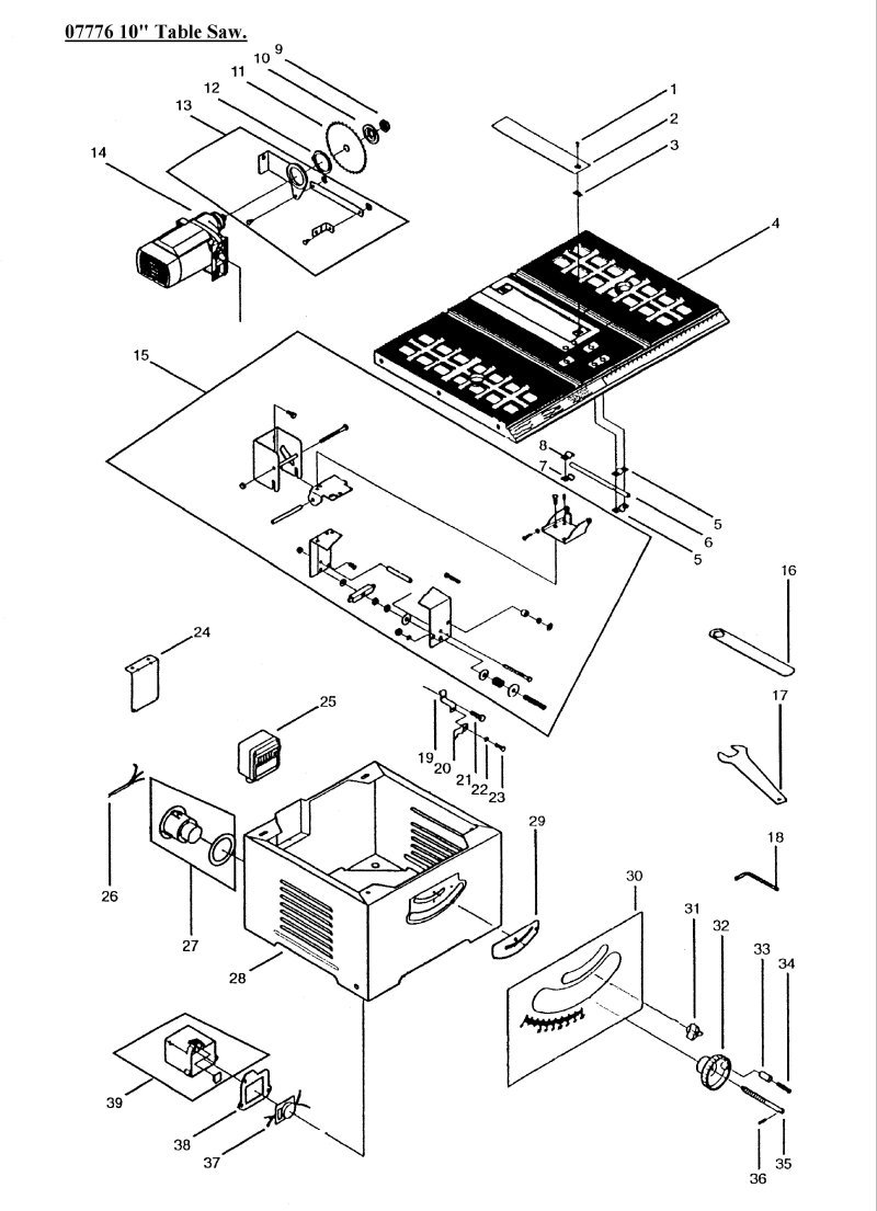Sip 07776 10 table saw diagram ccuart Choice Image