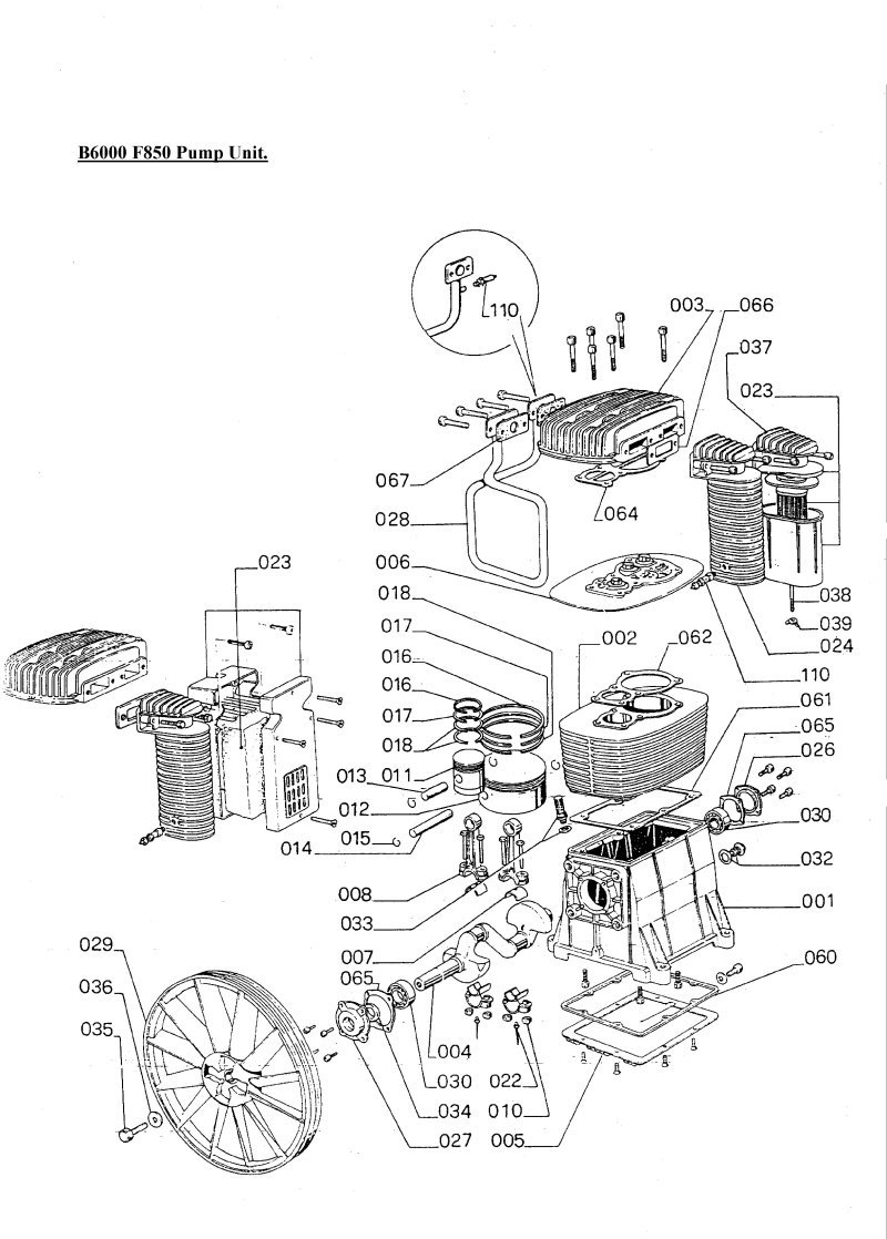 sip airstream 7 5hp compressor pump diagram