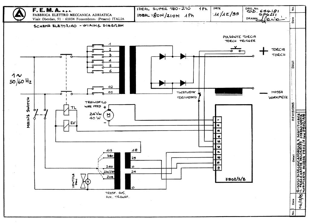Ideal_180_and_210_Super_and_Ideal_180_and_210_N_1PH Welding Inverter Schematic on mig welder control board schematic, lincoln arc welding schematic, generator schematic, welding equipment, forklift schematic, tens schematic, basic synthesizer schematic, welding switching schematic, alternator welder schematic, inductor schematic, welding machine transformer schematic,