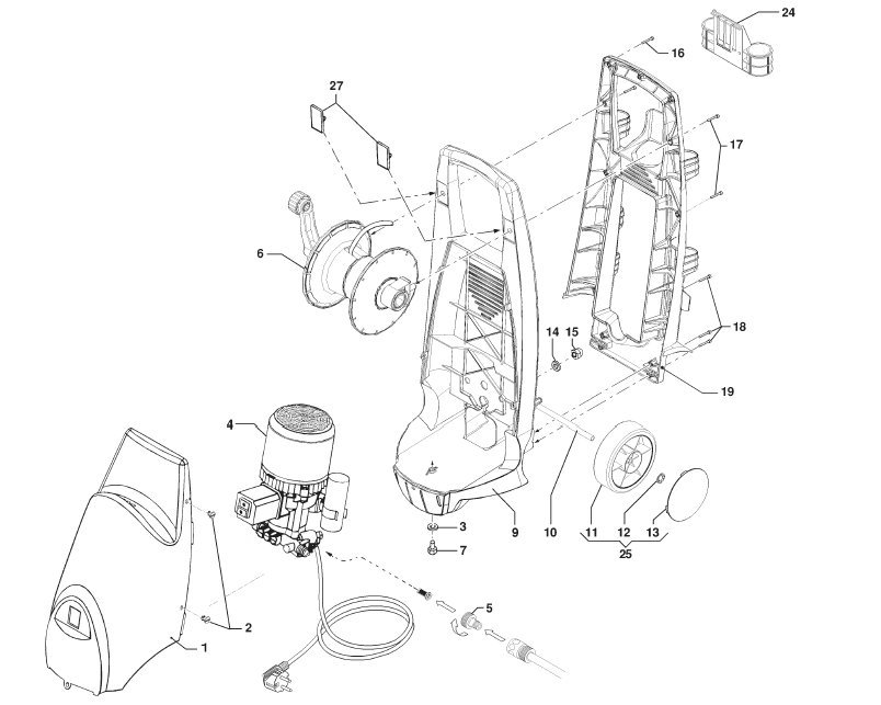 sip tempest t480 pressure washer case  u0026 body diagram